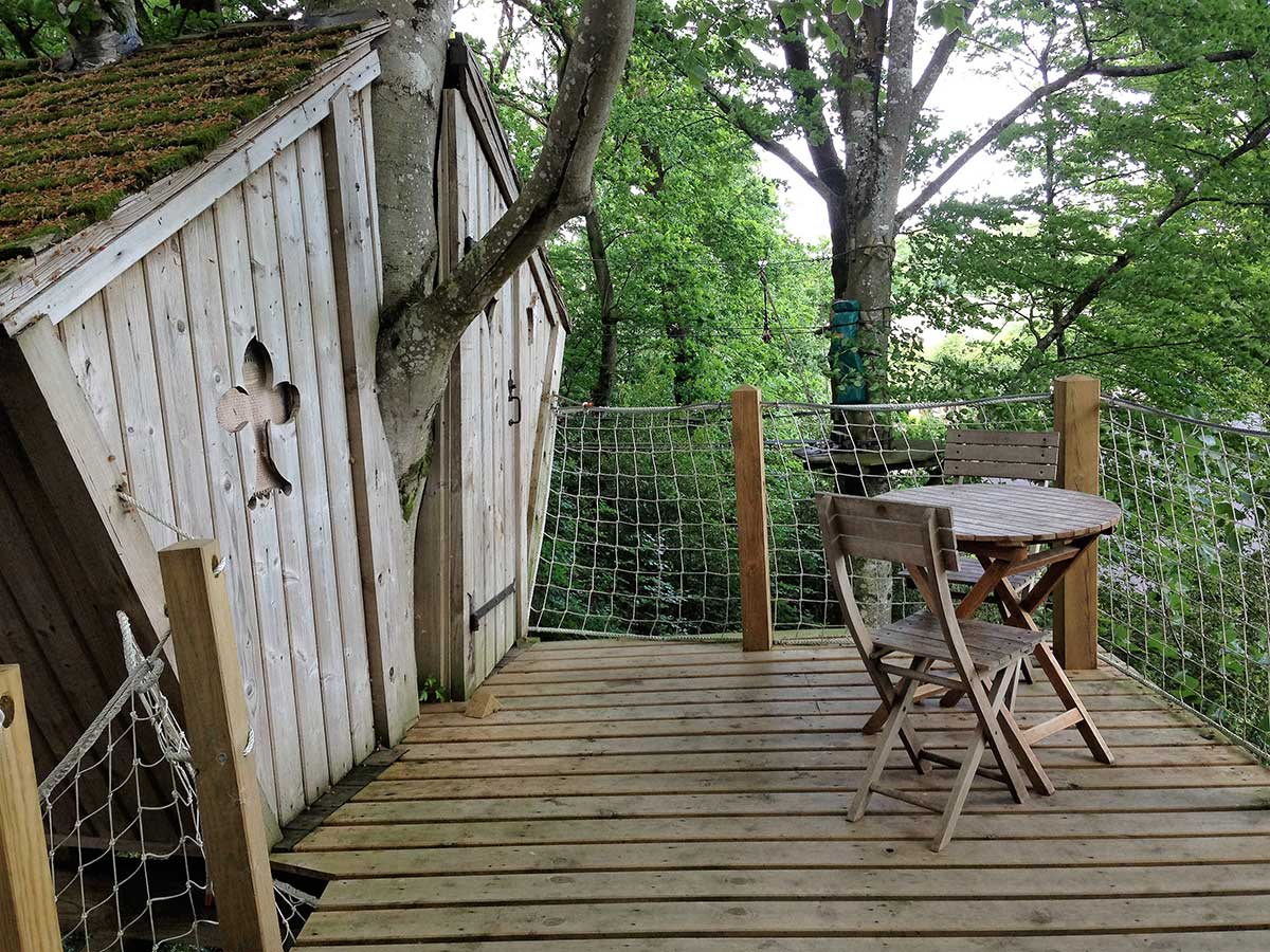 terrasse cabane perchée