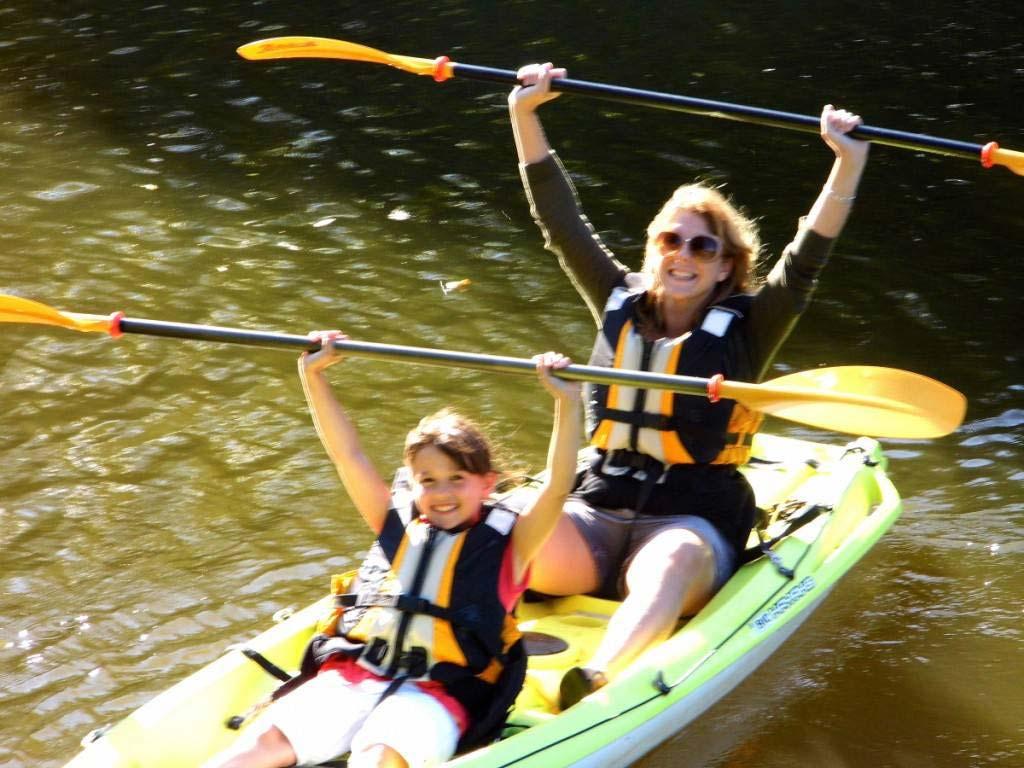 joie du canoé sur le canal