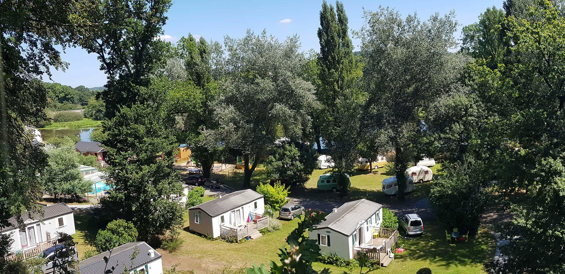 hebergements du camping domaine du Roc