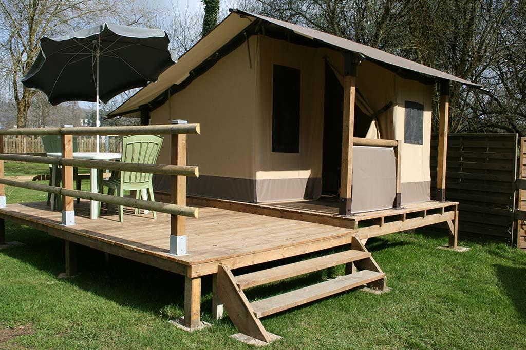 Tente Lodge sur pilotis